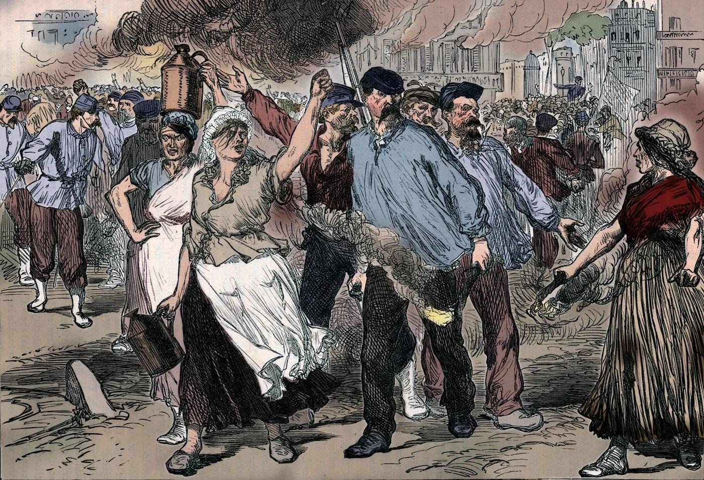 Las mujeres comuneras en París, 1871